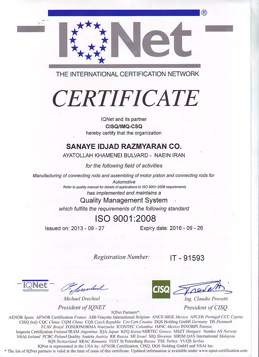 IQNET-ISO 9001